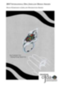 Jewellery Competition awards, Opal Jewellery, Fashion, Design Awards, Jewellery design, Awards, Carmen Hui, designer, innovative, Australian Opal, ring, jewellery handsketch, 2017 International Opal Jewellery Design Awards, Hang Fong Opal, OJDA, winner, highly commended