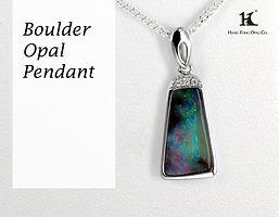 Boulder Opal Pendant, Opal Jewellery, Opal jewelry, Australian Opal, HFO, 蛋白石, 澳寶, 歐泊, 吊墜, 恆豐, Boulder Opal, Queensland, Silver, 14K gold Pendant, Hang Fon Opal,