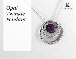 Opal Twinkle Pendant,Opal Pendants,Opal Jewellery,Opal jewelry,Australian Opal,HFO,蛋白石,澳寶,歐泊,吊墜,恆豐, silver, opal doublet, opal triplet, moving stone, dancing opal
