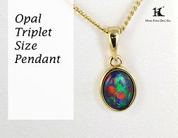 Opal Triplet Pendant, Opal Jewellery, Opal Pendants, Opal jewelry, Australian Opal Pendant, Hang Fong Opal, HFO, 蛋白石, 澳寶, 歐泊, 吊墜, 恆豐, silver, 14K gold