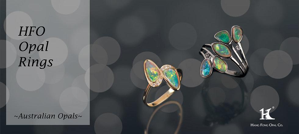 Opal Jewellery, Opal rings, Opal jewelry, Australian Opal, Solid Opal, 恆豐, HFO, 蛋白石, 澳寶, 歐泊, 戒指, 14K gold rings