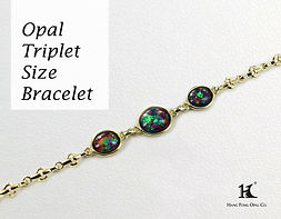 Opal Triplet Size Bracelet, Opal Jewellery, Opal Bracelets, Opal Bangles, Opal, Australian Opal, Opal Doublet, 恆豐, HFO, 蛋白石, 澳寶, 歐泊, 手鏈, 14K gold, silver bracelet