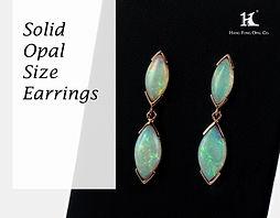 Opal earrings,Opal jewellery,Australian Opal, Solid Opal,恆豐,HFO,蛋白石,澳寶,歐泊,耳環, silver, 14K gold earrings