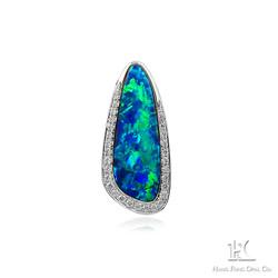 HFO pendant, opal pendant, jewelry