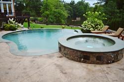 Vanishing edge pool and raised spa