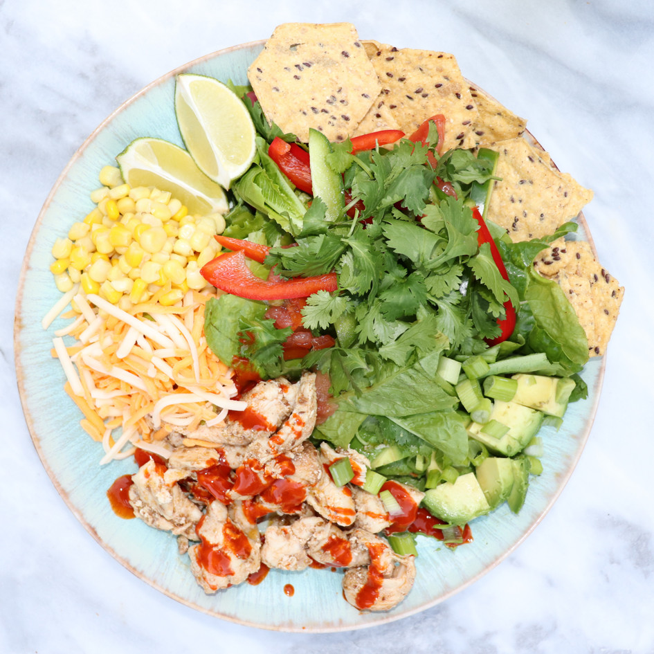 Meal Prep Chicken Taco Salad