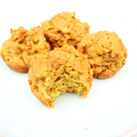 High Protein Maple Carrot Spice Muffins