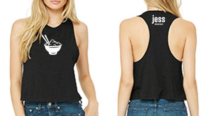 Jess Nourishes OFFICIAL Racerback Crop Tank