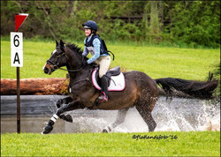 A safe and happy young rider on XC!