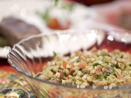 SALADA DE LENTILHAS COM GENGIBRE: receita das nutris para as festas!