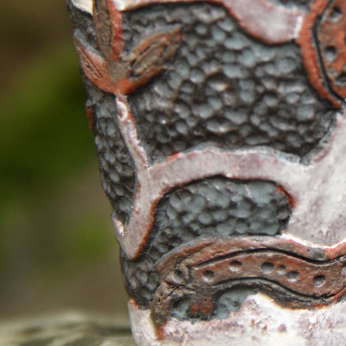 Handmade Viking mead glass with carved decoration from North Mythology