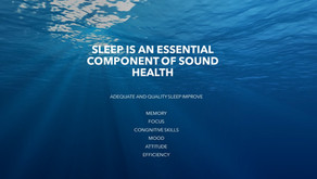 "SLEEP IS THE NEW ""WATER"" Elixir of life – TIME TO GIVE IT THE PLACE IT DESERVES IN OUR LIVES"