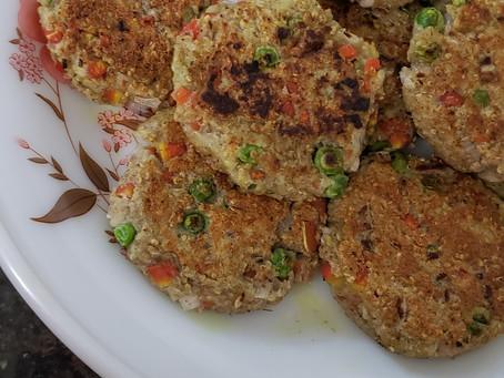 Aloo-Quinoa-Veggie Chatpate Tikki