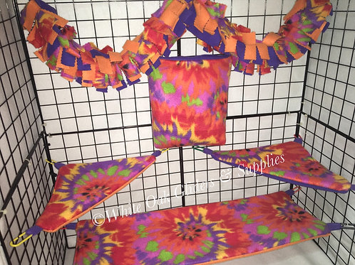 Fleece Cage Set (Tie Dye)