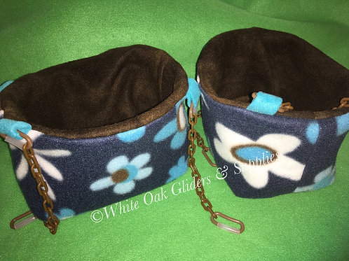 2 Large Bucket Pouches (Flowers)