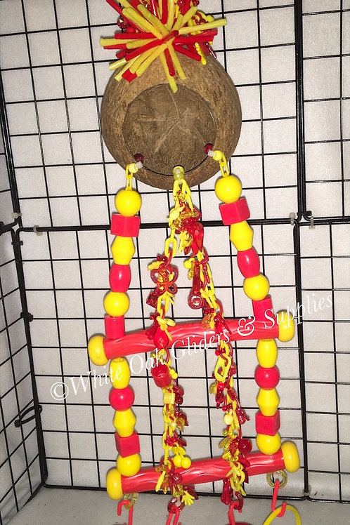 Coconut Hide Away  Yellow/Red
