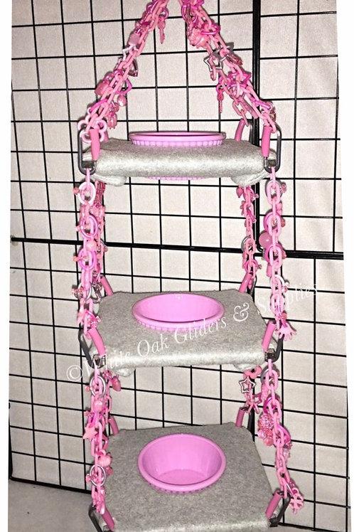 Triple Snacker Pink/Gray