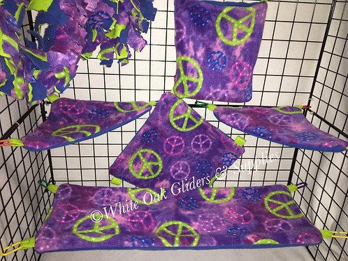 Fleece Cage Set (Peace Sign)