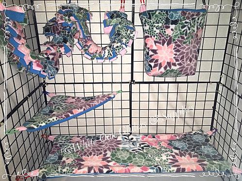 Floral 4 Piece Cage Set