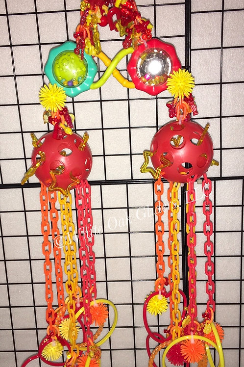 Double Rattle Pulley (red,yellow,orange)
