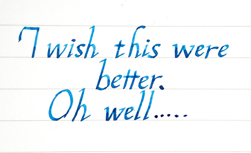 Italic calligraphy with Pilot Plumix
