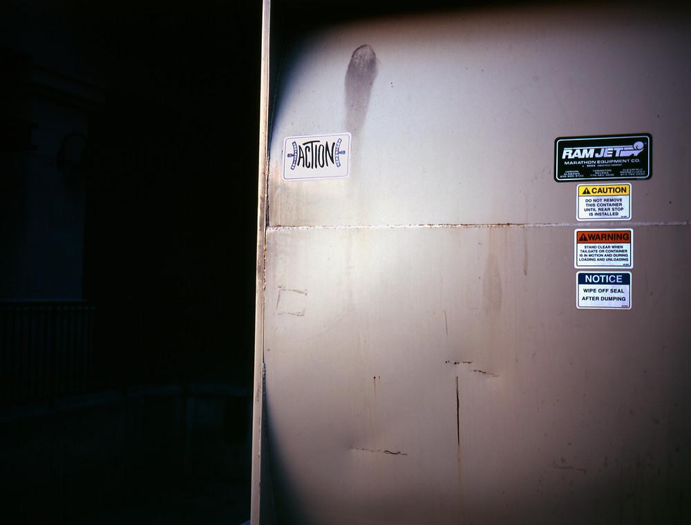 picture of a power box in Salt Lake City taken on Velvia film