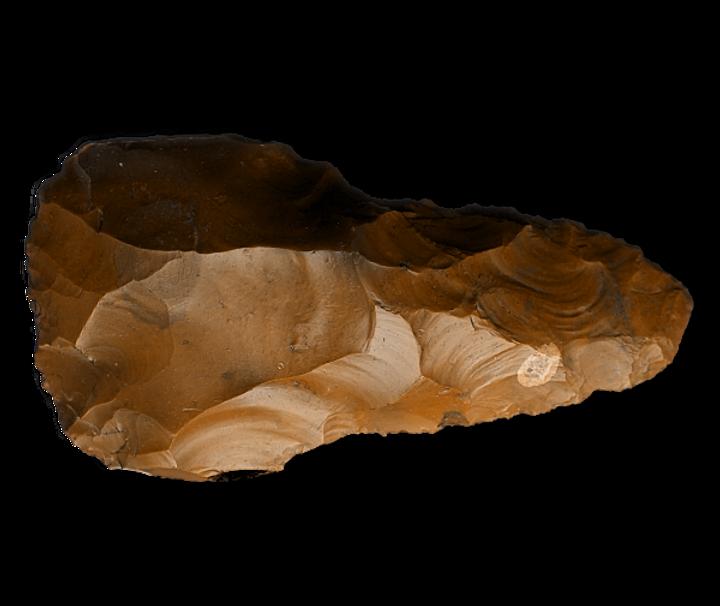 Palaeolithic flint handaxe