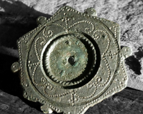 Decorated Roman Plate Brooch