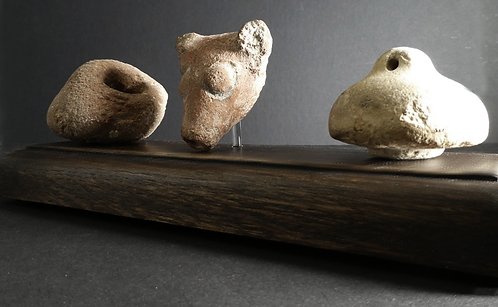 ANCIENT GREEK SPOUT AND STOPPER GROUP