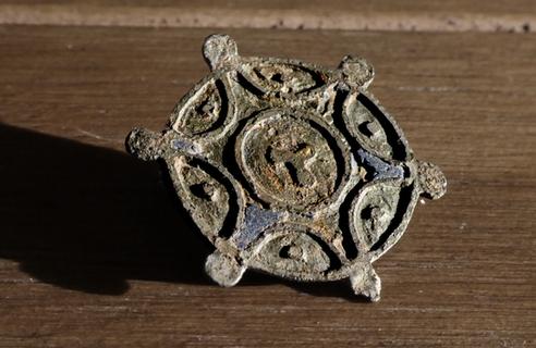 Roman Sol Invictus Disc Brooch