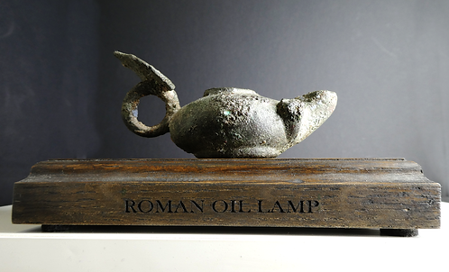 ROMAN BRONZE OIL LAMP