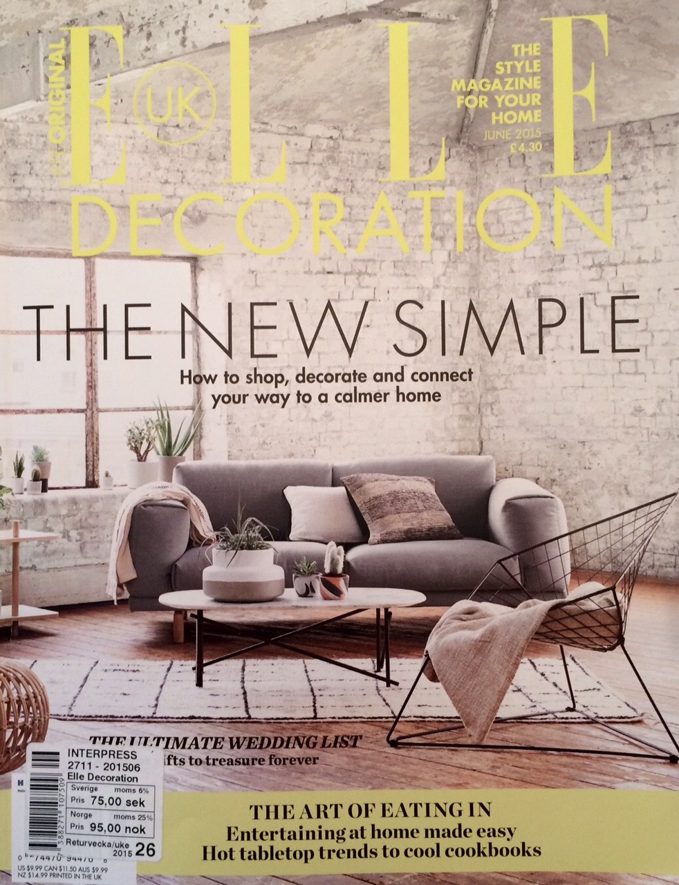 ELLE Decoration UK June 2015