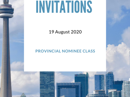 Invitations for 19 August 2020