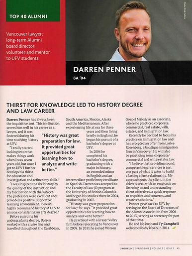 Darren- Top Alumni