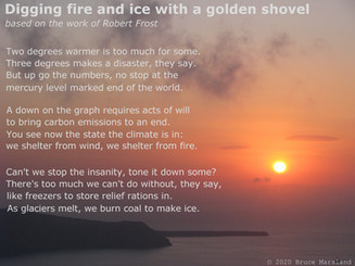 Digging fire and ice with a golden shovel