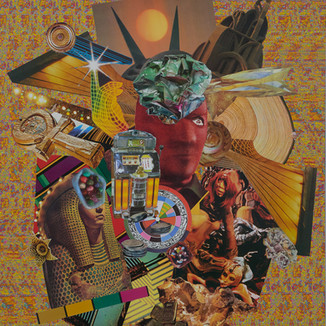 Arnie Arnold Gravity Field, 2021 Paper Collage on Wood 101cm ×76cm (40in ×30 in)