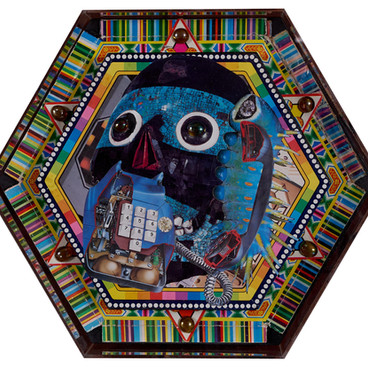 crystal_skull_collage_on_wood 3D, 410mm