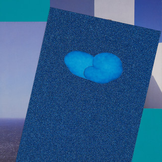 Arnie Arnold Fluffy Blue Cloud, 2021 Paper Collage on Wood 35 cm ×40.6cm (12in ×16in)