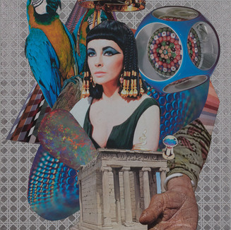 Arnie Arnold Cleopatra, 2020 Paper Collage on Wood 55 cm ×40.6cm (20in ×16in)