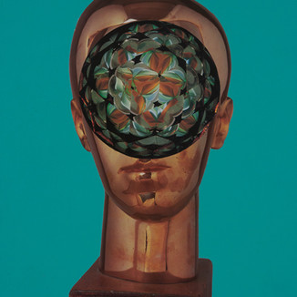 Arnie Arnold Magic Eye, 2021 Paper Collage on Wood 35 cm ×40.6cm (12in ×16in)