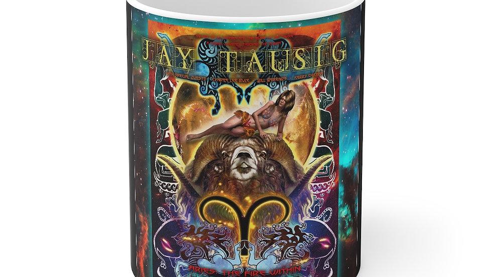 """Jay Tausig """"Trip Around The Sun"""" Aries Mug 11oz"""