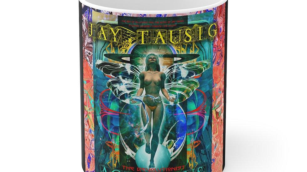 """Jay Tausig """"Trip Around The Sun"""" Aquarius Mug 11oz"""