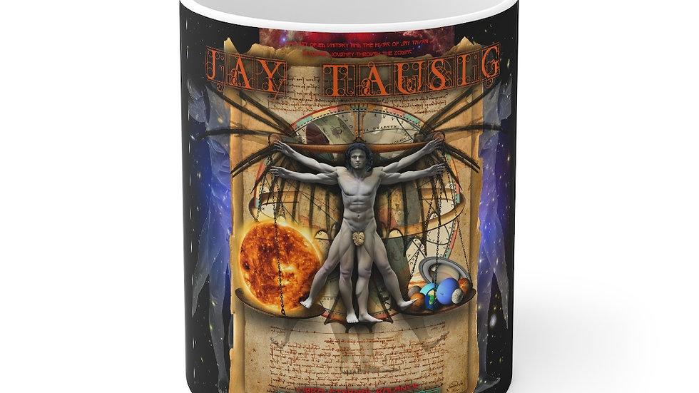 """Jay Tausig """"Trip Around The Sun"""" Libra Mug 11oz"""