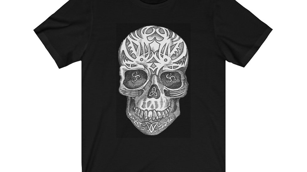 "Jay Tausig ""Celtic Skull"" Unisex Jersey Short Sleeve Tee"