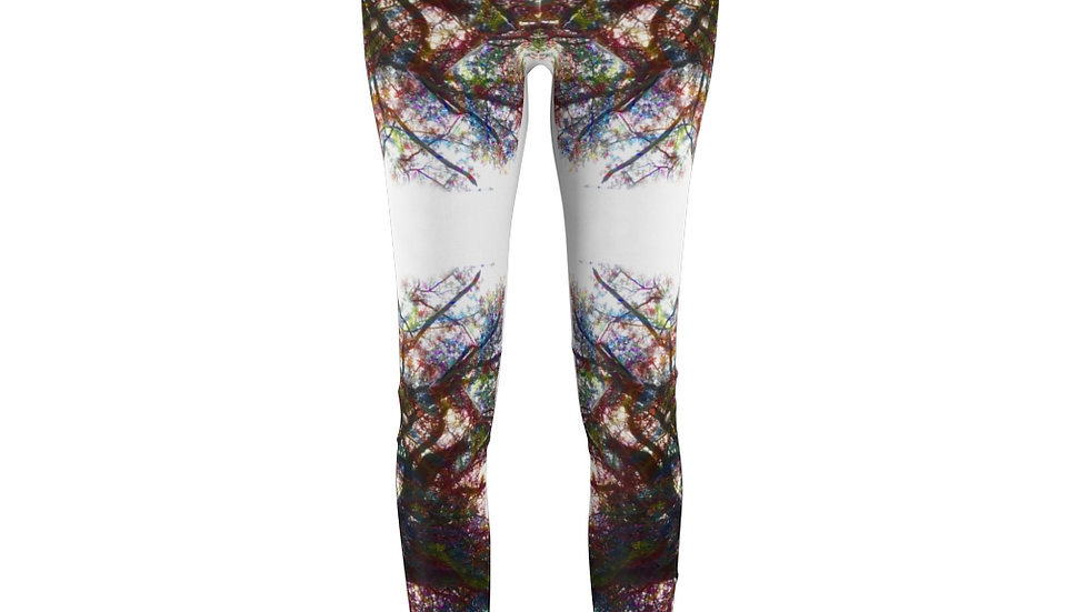 Trippy Tree Women's Cut & Sew Casual Leggings