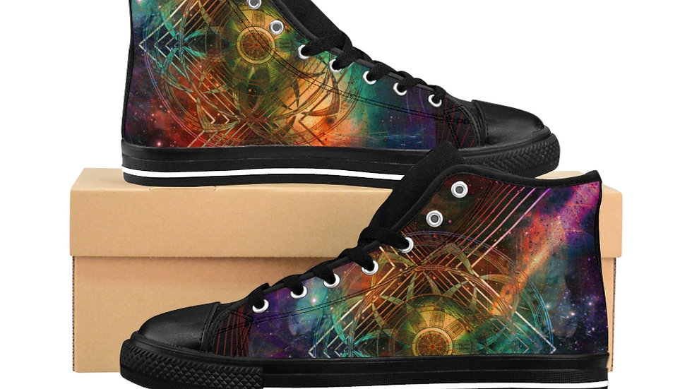 "Jay Tausig ""Resonance"" Men's High-top Sneakers"