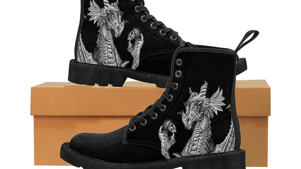 Men's Dragon and Skull Boots