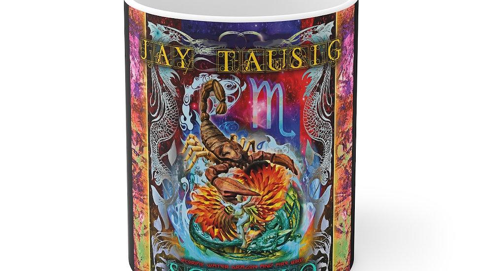 """Jay Tausig """"Trip Around The Sun"""" Scorpio Mug 11oz"""