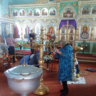 уборка храма