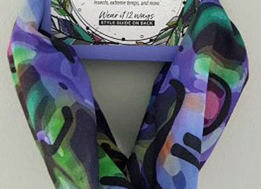 Abstract Tube Scarf